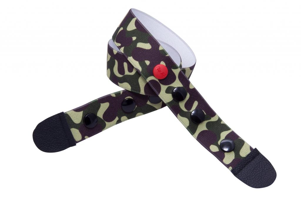 Clip.Ho woman & sir, 35XX55 Camouflage grün